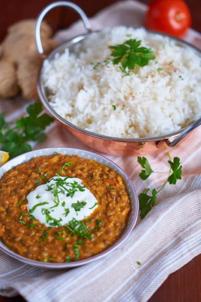 Berglinsen Curry | Mountain Lentil Curry | Rezept auf carointhekitchen.com | #Berg #Linsen #Curry #Dal #Rezept #Mountain #Lentil #Recipe