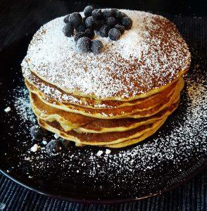 Bananen Matcha Pancakes - lecker & gesund