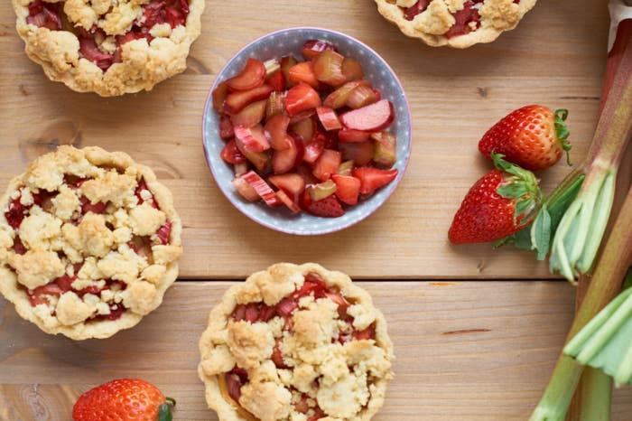 Rhubarb Tartelettes Recipe — Dishmaps